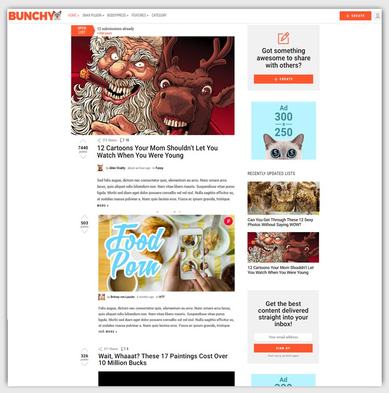 bunchy-Viral-Magazine-WordPress-Theme-buzz