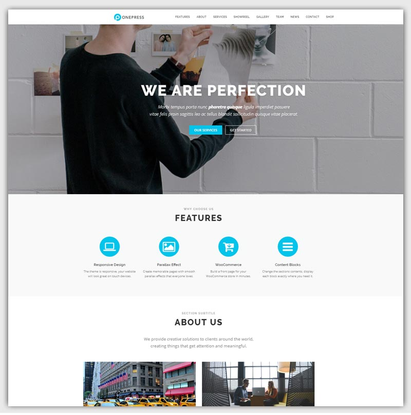 onepress-theme-gratuit-WordPress-responsive