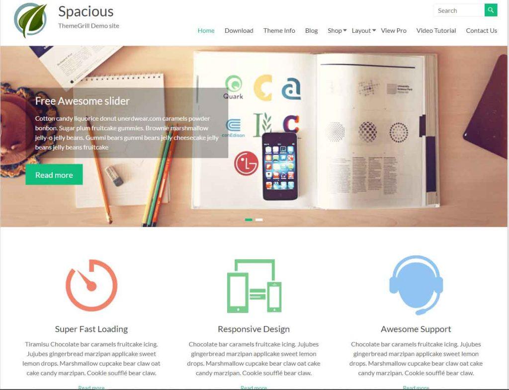 spacious--meilleur-theme-gratuit-wordpress