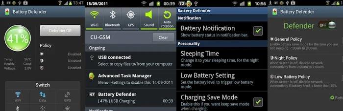 économiseur de batterie application