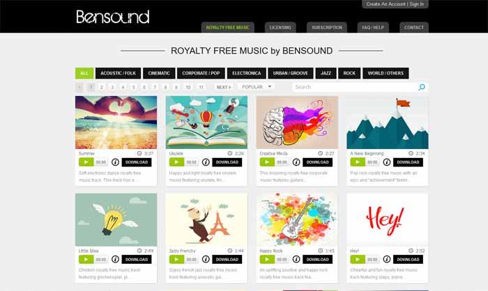bensound-musique-mp3-libre de droit