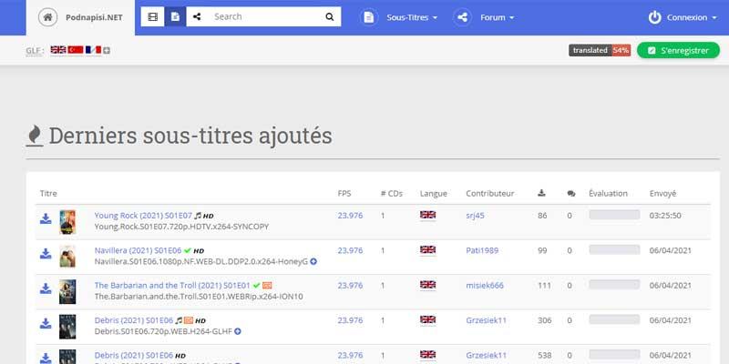podnapisi-meilleurs-sites-sous-titres-francais-films-series-telechargement-gratuit